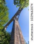 view of the djurdjevica bridge... | Shutterstock . vector #1029662074