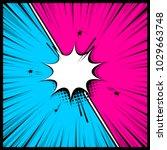 comics book empty colored... | Shutterstock .eps vector #1029663748