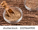 flax seed and powder   linum... | Shutterstock . vector #1029664900