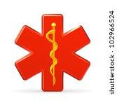 rod of asclepius emblem  bitmap ...   Shutterstock . vector #102966524