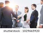 handshake of business partners... | Shutterstock . vector #1029665920