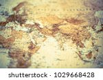 detail of a vintage map ... | Shutterstock . vector #1029668428