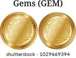set of physical golden coin... | Shutterstock .eps vector #1029669394