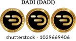 set of physical golden coin... | Shutterstock .eps vector #1029669406
