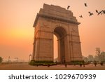 birds fly over india gate  new... | Shutterstock . vector #1029670939