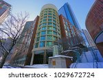 Small photo of CHICAGO, IL -12 FEB 2018- View of 440 N McClurg Ct, a residential condominium midrise building in the Streeterville neighborhood of Chicago.