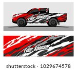 truck car and vehicle racing... | Shutterstock .eps vector #1029674578