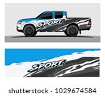 truck car and vehicle racing... | Shutterstock .eps vector #1029674584