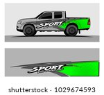 truck car and vehicle racing... | Shutterstock .eps vector #1029674593