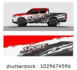 truck car and vehicle racing... | Shutterstock .eps vector #1029674596