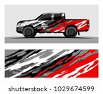 truck car and vehicle racing... | Shutterstock .eps vector #1029674599
