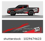 truck car and vehicle racing... | Shutterstock .eps vector #1029674623