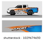 truck car and vehicle racing... | Shutterstock .eps vector #1029674650