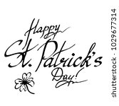 happy saint patrick's day wish... | Shutterstock . vector #1029677314