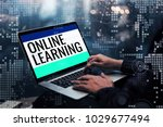 online learning concepts ideas... | Shutterstock . vector #1029677494