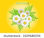 spring beautiful flowers on... | Shutterstock .eps vector #1029680254