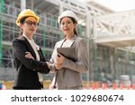 two a professional female... | Shutterstock . vector #1029680674