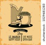 st patricks day card | Shutterstock .eps vector #1029681283