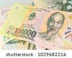 vietnam dong banknote  on... | Shutterstock . vector #1029682216