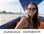 portrait of young beautiful... | Shutterstock . vector #1029685474