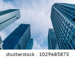 modern office building on a... | Shutterstock . vector #1029685873