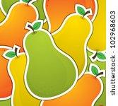 pear sticker background card in ...   Shutterstock .eps vector #102968603