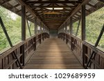 pedestrian bridge over the... | Shutterstock . vector #1029689959