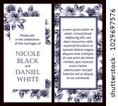vintage delicate invitation... | Shutterstock . vector #1029697576