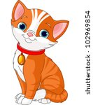 Illustration Of Cute Cat...