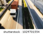 truck on highway road container