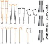 set of orthopedic equipment ... | Shutterstock .eps vector #102970256