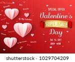 valentines day sale background... | Shutterstock .eps vector #1029704209