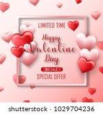 happy valentine's day sale... | Shutterstock .eps vector #1029704236