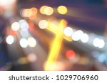 beautiful bokeh with a cross in ... | Shutterstock . vector #1029706960