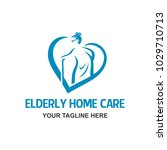 home care  for elderly people... | Shutterstock .eps vector #1029710713