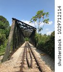 old disused railway bridge with ... | Shutterstock . vector #1029712114