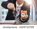 selling home little house ... | Shutterstock . vector #1029714709