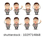 cute people   businessman set  | Shutterstock .eps vector #1029714868