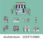 illustration of book store  | Shutterstock . vector #1029714880