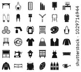 sewing icons set. simple set of ... | Shutterstock .eps vector #1029716944