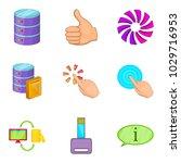 web data icons set. cartoon set ...