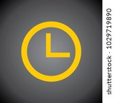 yellow clock icon on black... | Shutterstock .eps vector #1029719890