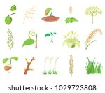 plant icon set. cartoon set of... | Shutterstock .eps vector #1029723808