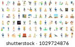 men characters icon set.... | Shutterstock .eps vector #1029724876