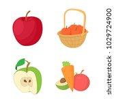 apple icon set. cartoon set of... | Shutterstock .eps vector #1029724900