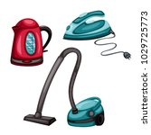 home appliances vector drawings.... | Shutterstock .eps vector #1029725773