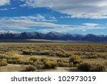 Beautiful Nevada Desert With...