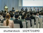 rear view of audience in the... | Shutterstock . vector #1029731890