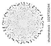 musical note exploding globula. ... | Shutterstock .eps vector #1029735244