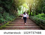 Path Stone Stairway Leads Up A...